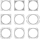 Circle corner ornamental frames