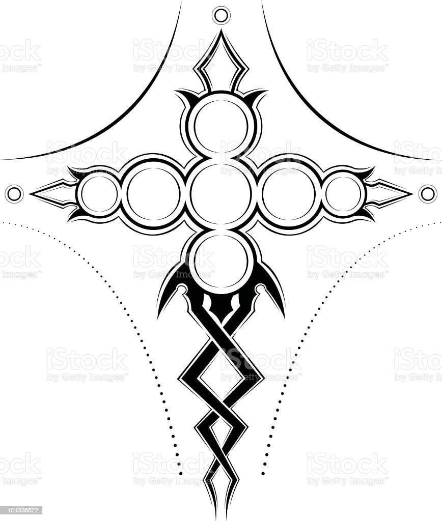 Circle Cross royalty-free stock vector art