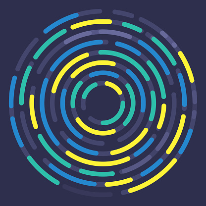 Circle Dash Abstract Curve Background
