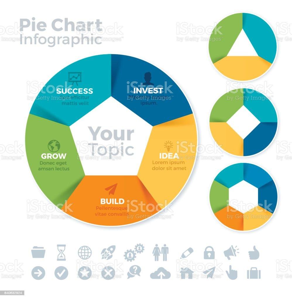 Circle Data Infographic vector art illustration
