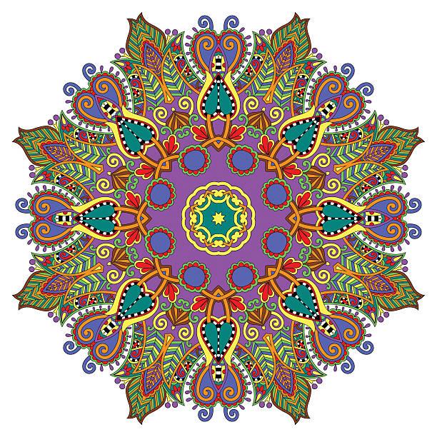 circle dekorative spirituellen indischen symbol des lotus blume - mantra stock-grafiken, -clipart, -cartoons und -symbole