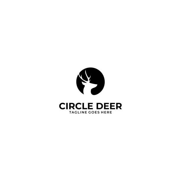 Circle Deer Illustration Vector Template Circle Deer Illustration Vector Template. Suitable for Creative Industry, Multimedia, entertainment, Educations, Shop, and any related business. mammal stock illustrations
