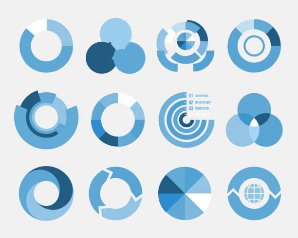 circle Zeichnung-Elementen – Vektorgrafik