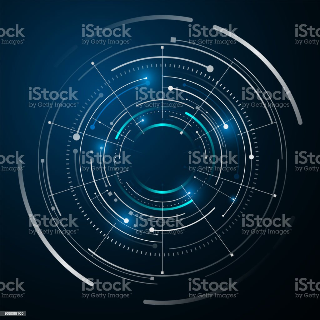 circle digital tech design concept background - Royalty-free Abstract stock vector