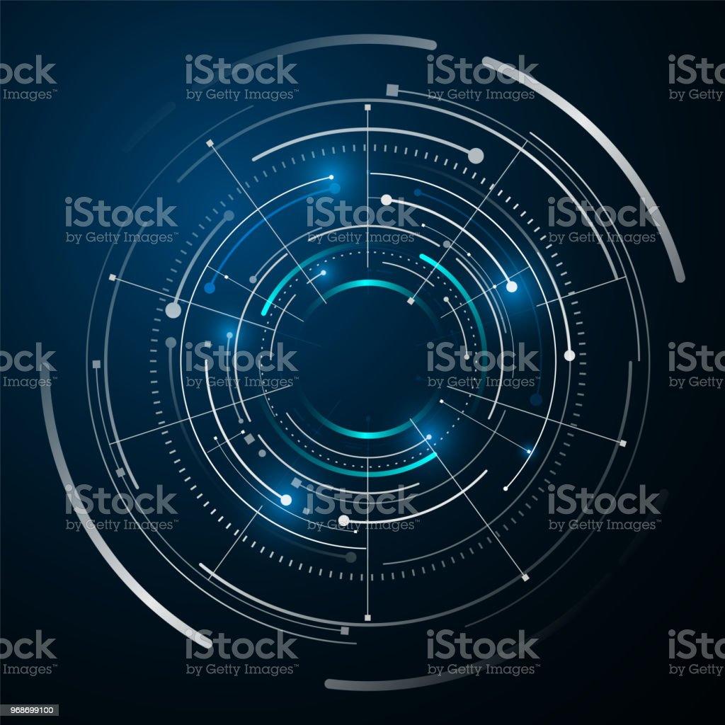 circle digital tech design concept background royalty-free circle digital tech design concept background stock illustration - download image now