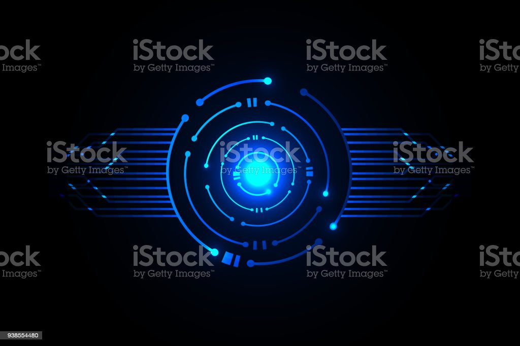 Circle digital technology , icon design template vector art illustration