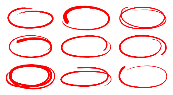 Editing circle hand drawn lines.