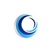 circle elements logo, blue sphere symbol icon vector design illustration