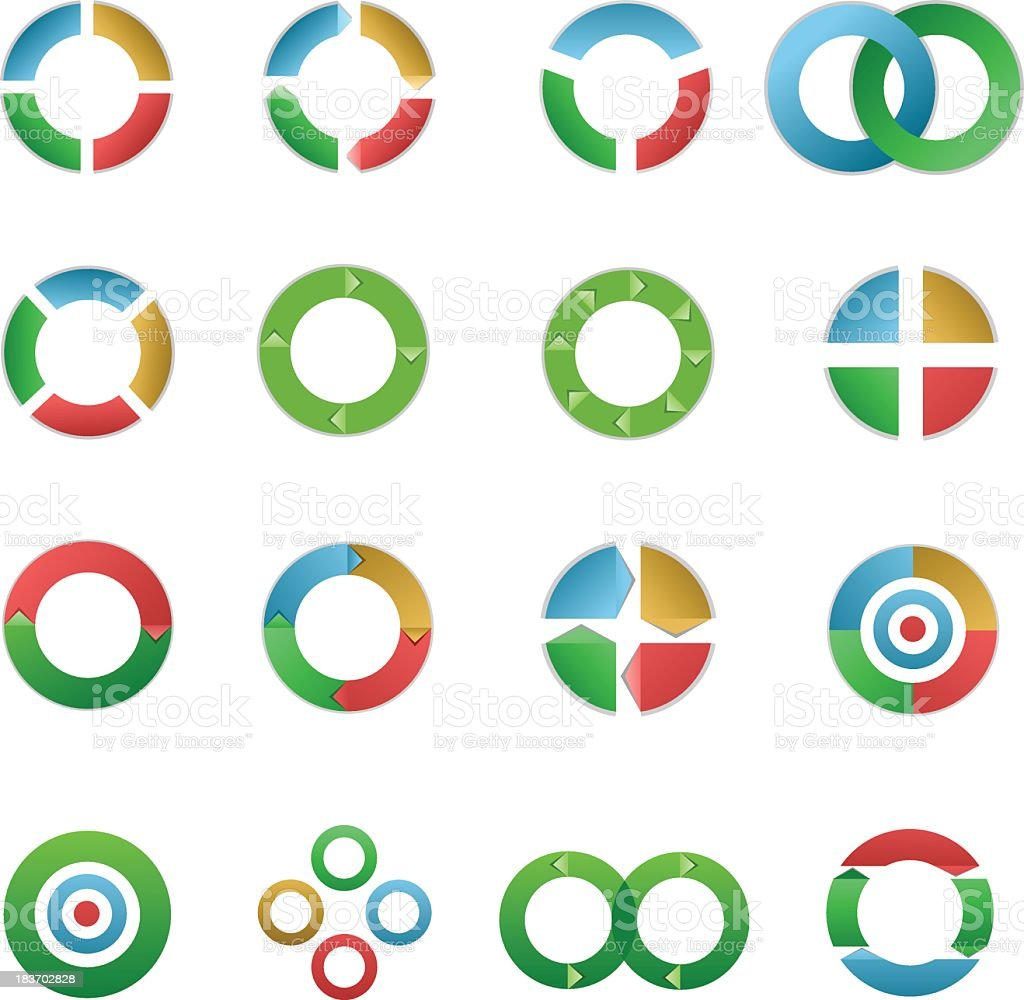 Circle elements royalty-free stock vector art