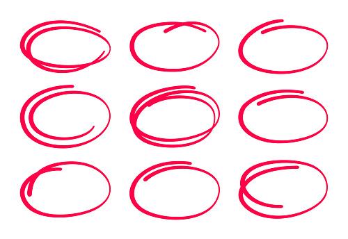 Circle Ellipses Editing Marks