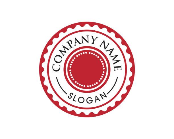 kreis-emblem design - hochschulgetränke stock-grafiken, -clipart, -cartoons und -symbole