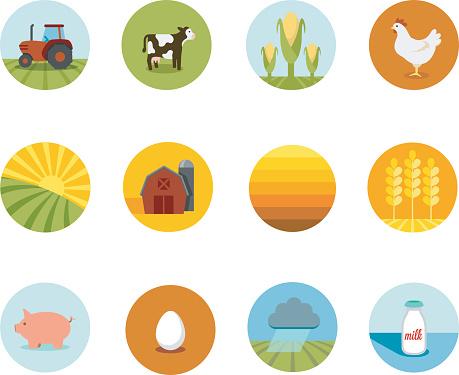 Circle Farming Icons