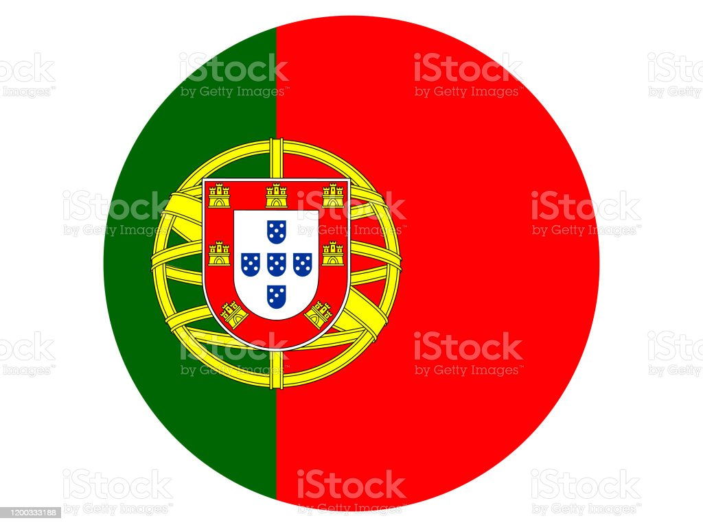 Circle Flag Of Portugal On White Background Stock Illustration - Download  Image Now - iStock
