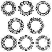 Circle floral design elements