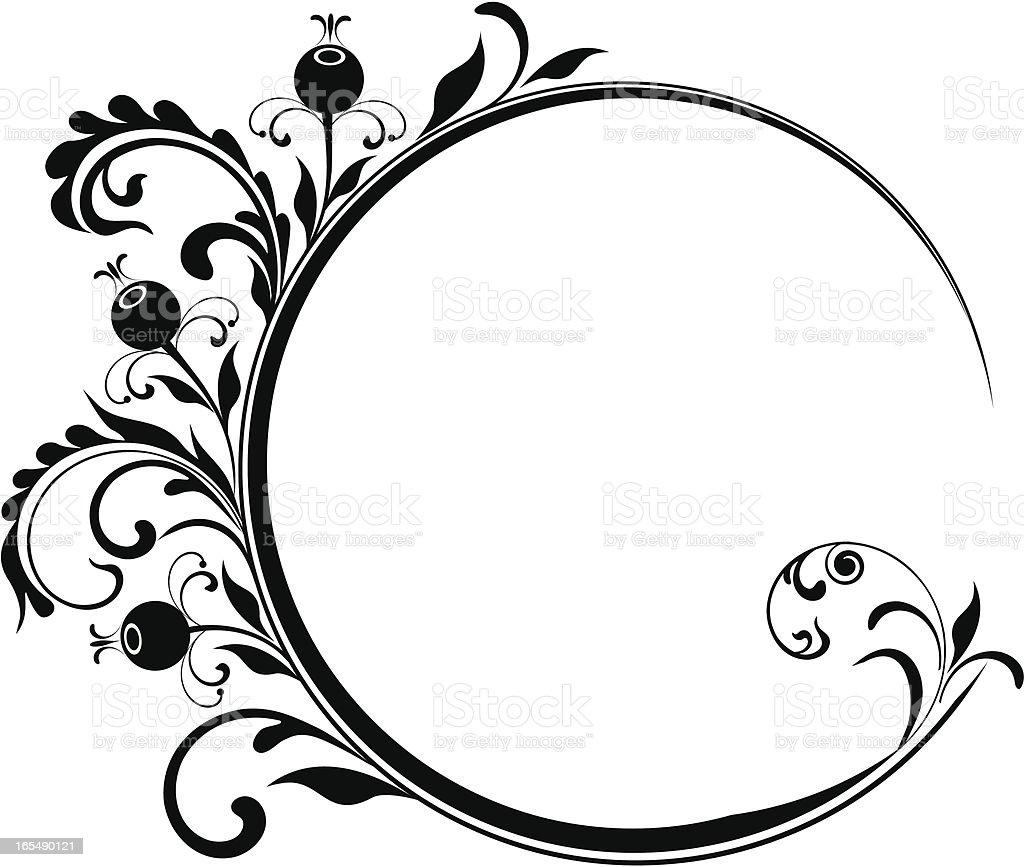 Circle floral frame VIII royalty-free stock vector art