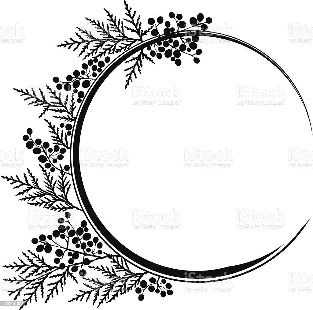 Cerchio cornice floreale XV - illustrazione arte vettoriale