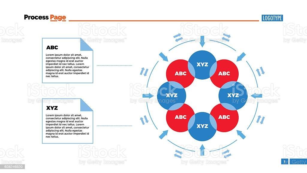 Circle Flowchart Slide Template Stock Illustration