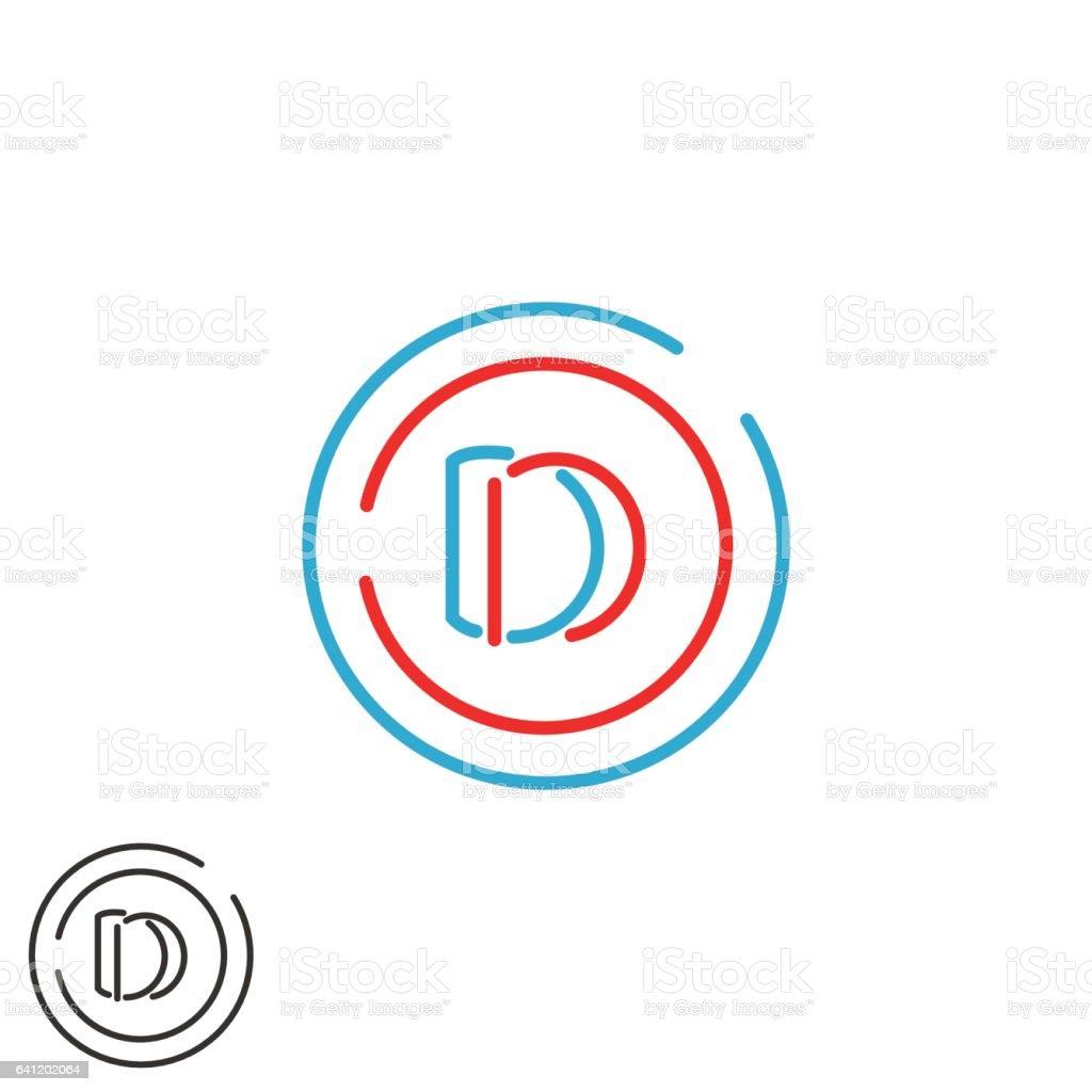 Logo De Cercle Cadre Monogramme Lettres Dd Lettre D Deux Combinaison