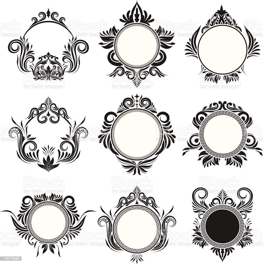 Circle Frame Ornamental vector art illustration