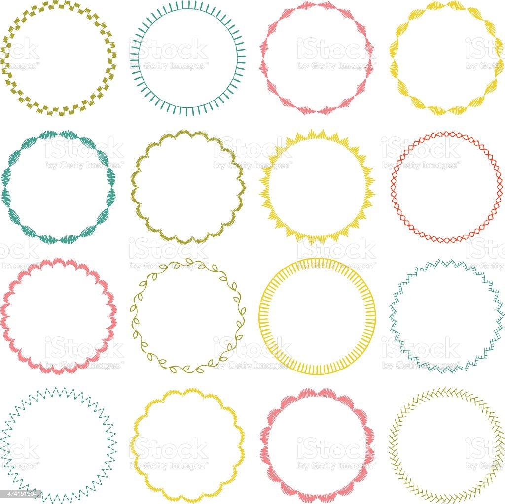 circle frames vector art illustration