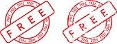 circle free sticker stamp set