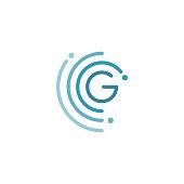 Circle G letter icon design vector illustration template. Future icon concept design. Vector illustration EPS.8 EPS.10