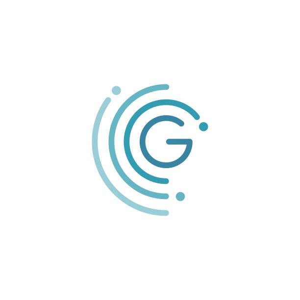 Circle G letter design vector illustration template Circle G letter icon design vector illustration template. Future icon concept design. Vector illustration EPS.8 EPS.10 stability stock illustrations
