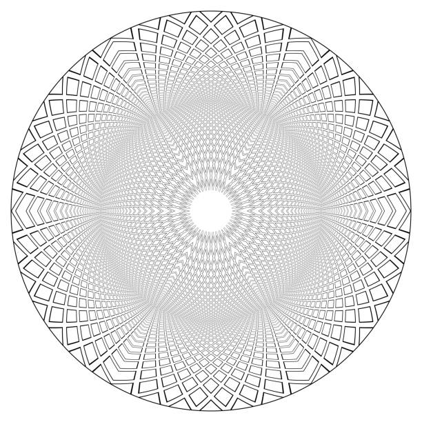 Circle geometric 3D pattern. Circle geometric 3D pattern. Vector art. cupola stock illustrations