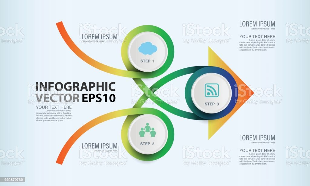 Circle graphic vector elements for infographic. vector art illustration