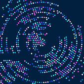 circle halftone pattern background