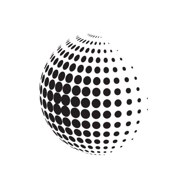 Circle halftone with dotts. Radial doted element. Logotype template. Circle halftone with dotts. Radial doted element. Logotype template. EPS 10 high key stock illustrations