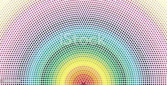 istock circle halftone with rainbow colore 1300833159