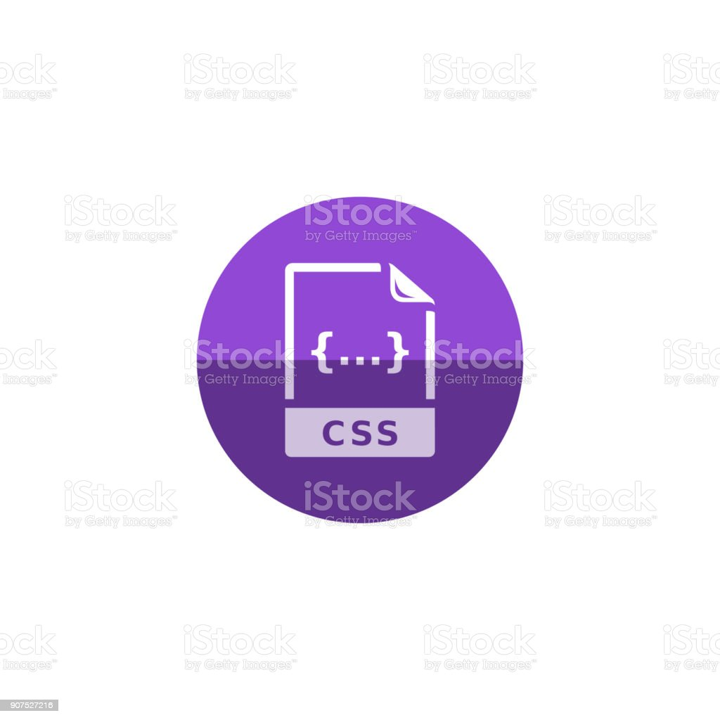 Circle icon - CSS file format vector art illustration