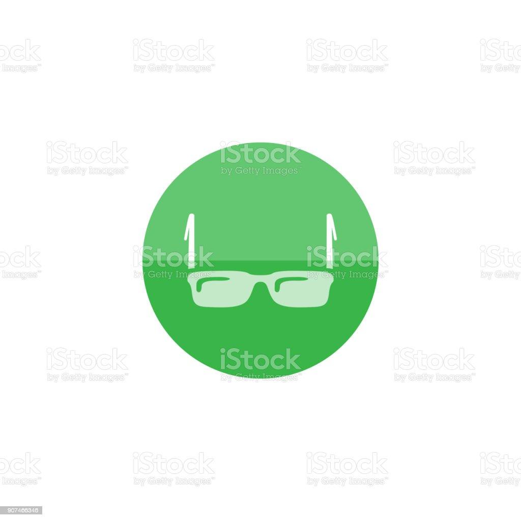 Circle icon - Eyeglasses vector art illustration