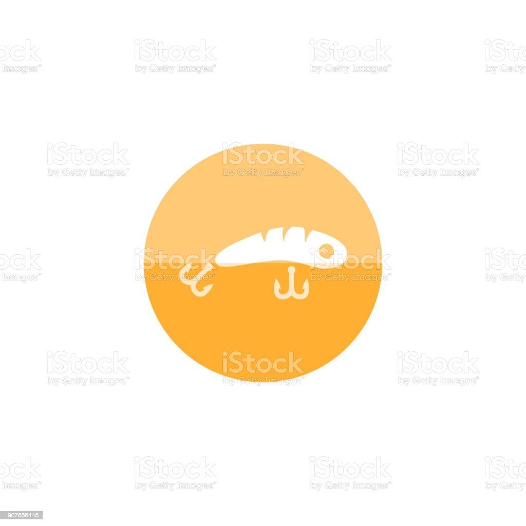Circle icon - Fishing lure vector art illustration