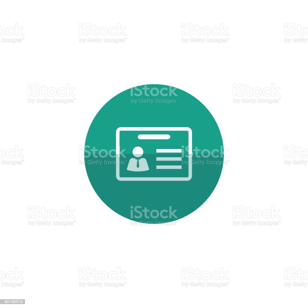 Circle icon - ID Card vector art illustration