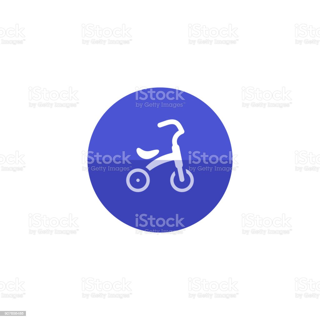 Circle icon - Kids tricycle vector art illustration