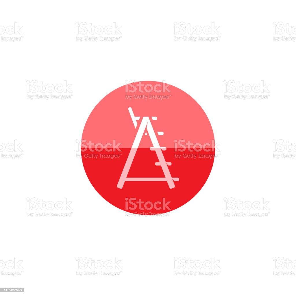 Stock Rettungsschwimmer Art Kreissymbol und Stuhl Vektor shQtCrd