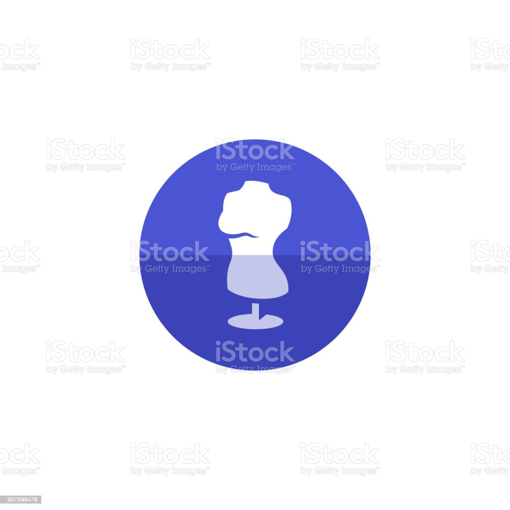 Circle icon - Mannequin vector art illustration