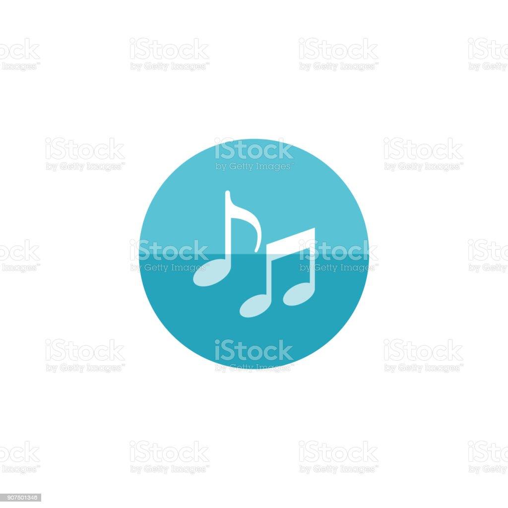 Circle icon - Music notes vector art illustration