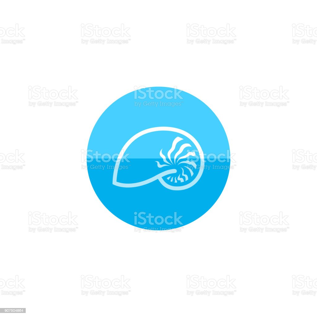 Circle icon - Nautilus vector art illustration