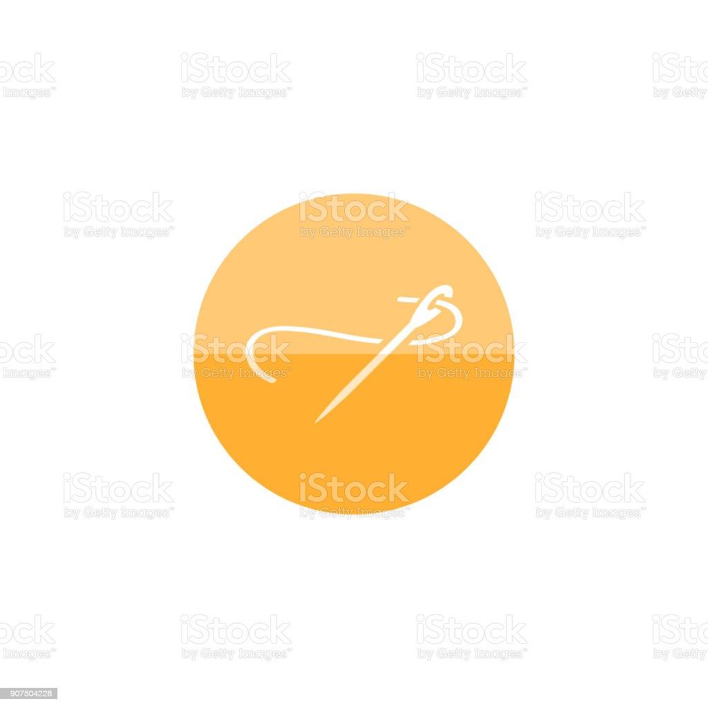 Circle icon - Needle vector art illustration