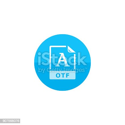 istock Circle icon - Open type file format 907568076
