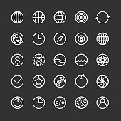 Circle Icon - White Line Series