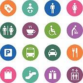 Circle Icons Series | Public & Shopping Mall