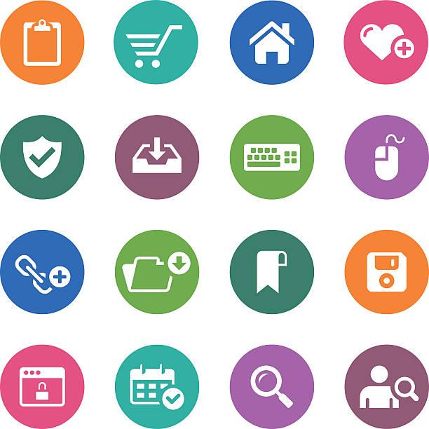 서클 아이콘 시리즈/웹 & 인터넷 - home icon stock illustrations