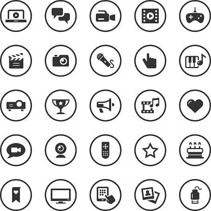 Circle Icons Set | Entertainment