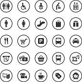 Circle Icons Set | Public & Shopping Mall