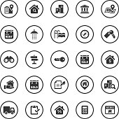 Circle Icons Set | Real Estate