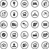 Circle Icons Set   Real Estate